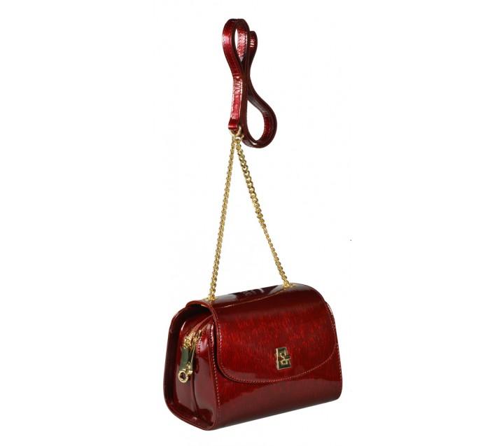 Di Gregorio сумка 777 кожа лак бордо