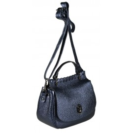 Di Gregorio сумка 8650 кожа металлик синий