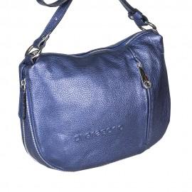 Di Gregorio сумка 768 кожа металлик синий