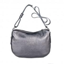 Di Gregorio сумка 768 кожа металлик серый