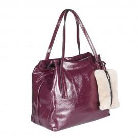 Ripani сумка 8501 ZAMIA кожа наплак бордо