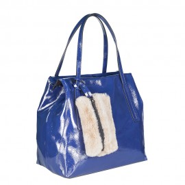 Ripani сумка 8501 ZAMIA кожа наплак синий