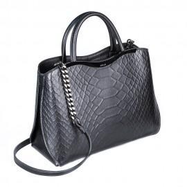 Ripani сумка 8581 кожа питон черный