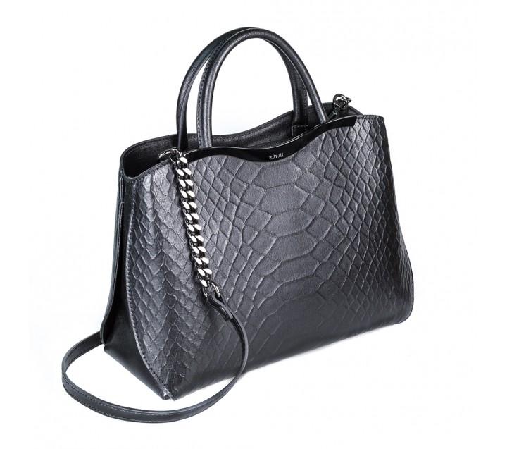 fdfee69751af Ripani сумка 8581 кожа питон черный