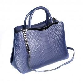 Ripani сумка 8581 кожа питон синий