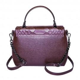 Ripani сумка 8587 кожа питон бордо