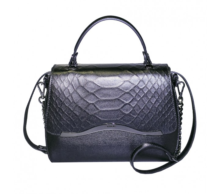 bcbcbb7420ba Ripani сумка 8587 кожа питон черный