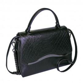 Ripani сумка 8587 кожа питон черный
