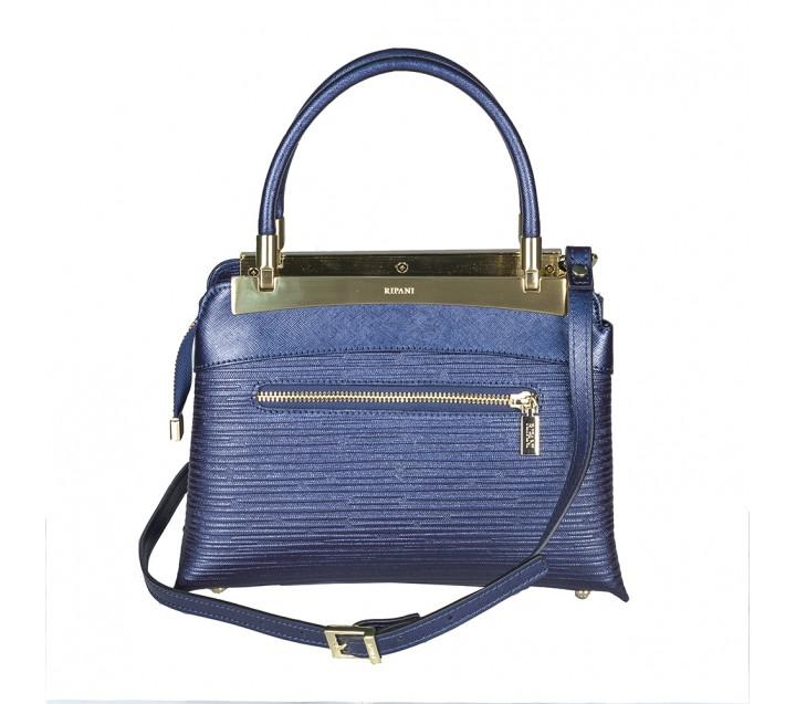Ripani сумка 8713 CALATEA кожа калф металлик синий