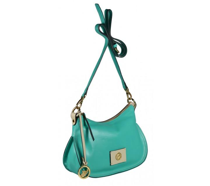 A.Bellucci сумка 292 кожа аквамарин/беж