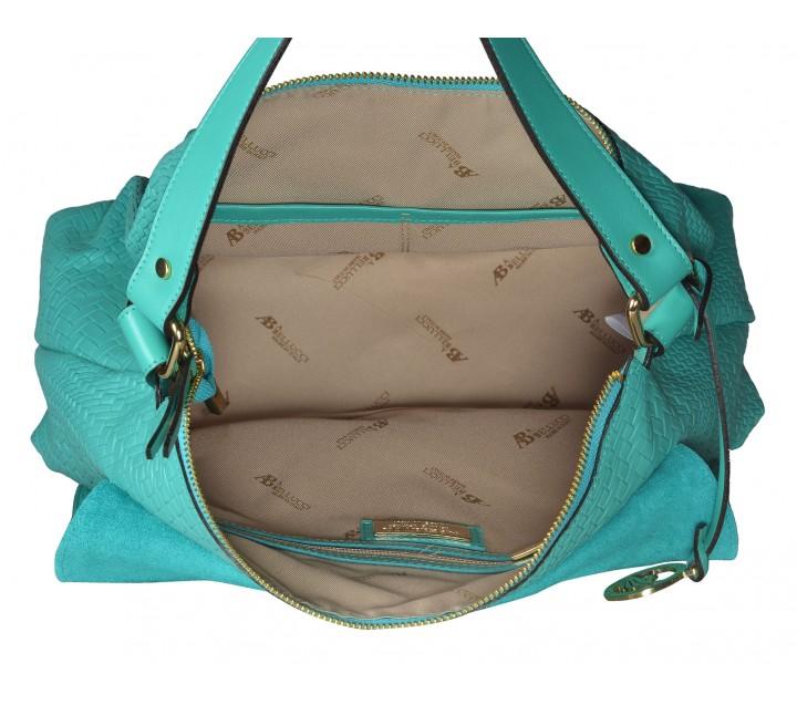 A.Bellucci сумка 142 кожа аквамарин