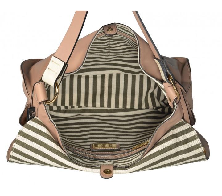 A.Bellucci сумка 290 кожа бирюза/бежевый
