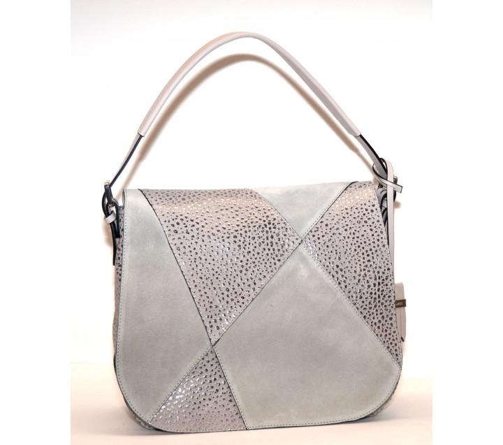 A.Bellucci сумка 661 кожа беж/серебро
