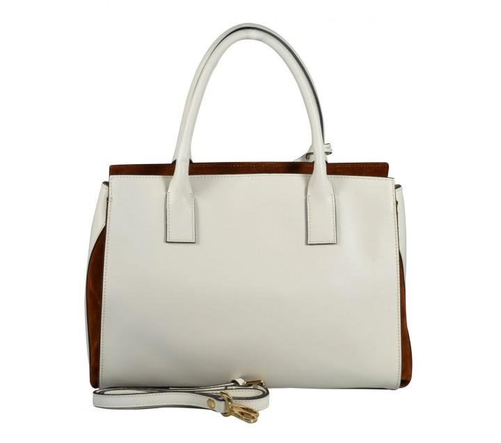 A.Bellucci сумка 500 калф белый/койо