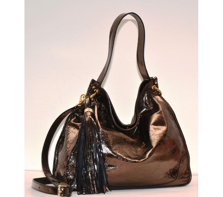 A.Bellucci сумка 111 кожа металлик каннафучили