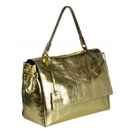 A.Bellucci сумка 192 кожа металлик плaтина