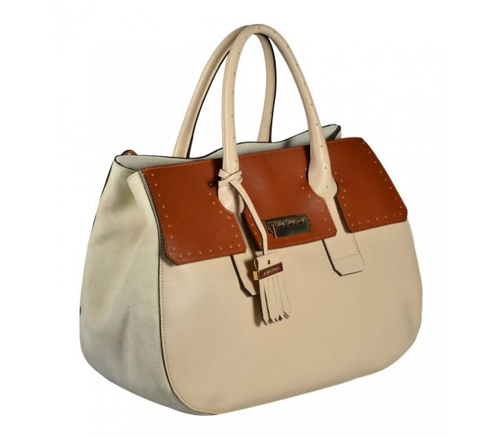 A.Bellucci сумка 591 кожа бежевый/койо