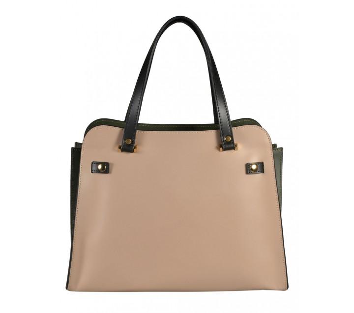 A.Bellucci сумка 380 калф таупе/зеленый