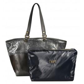 A.Bellucci сумка 620 наплак серый/серебро