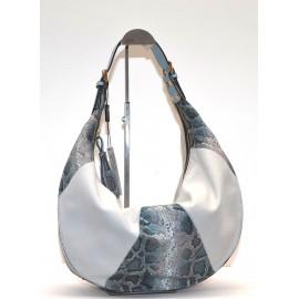 A.Bellucci сумка 480 кожа серый/питон/голубой
