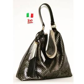 A.Bellucci сумка 162 кожа черный/металлик платина
