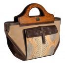 Carl Laich сумка 2620 кожа/питон/нубук беж./коричневый