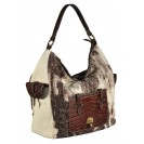 Carl Laich сумка 2642 кожа/кроко/лен беж/коричневый