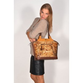 Carl Laich сумка 2700 кроко/кожа коричневый