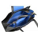 Carlo Salvatelli сумка 347 кожа лорд черный/синий