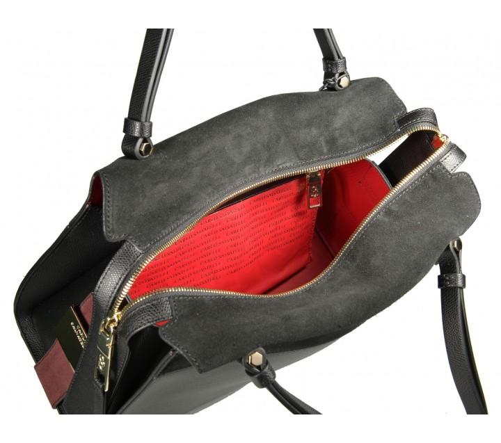 Carlo Salvatelli сумка 365 кожа лорд/замша черный