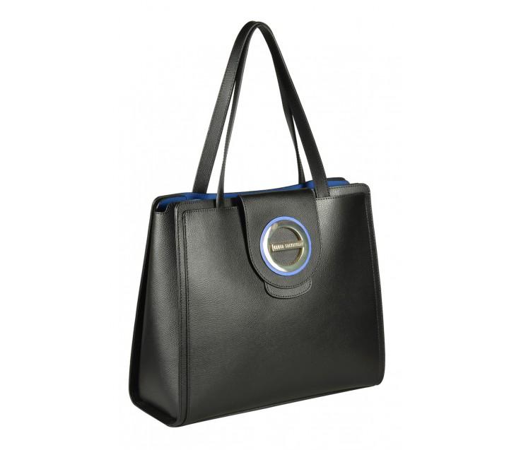 Carlo Salvatelli сумка 346 кожа лорд черный/синий