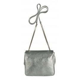 Di Gregorio сумка 780 кожа ламинато серебро