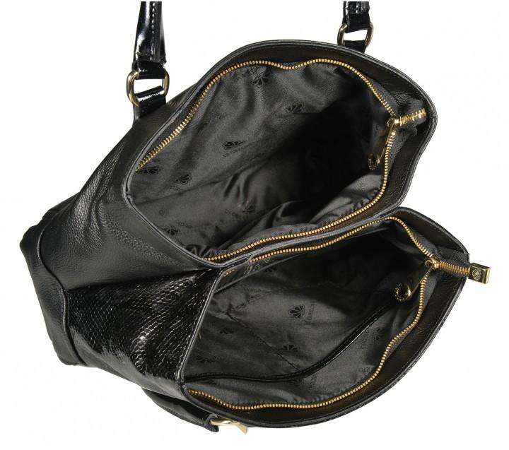 Di Gregorio сумка 1131 кожа/лак питон черный