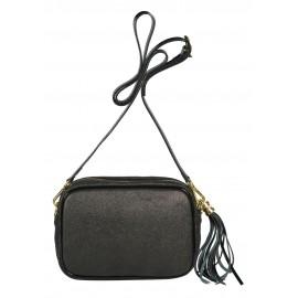 Di Gregorio сумка 8522 кожа металлик черный