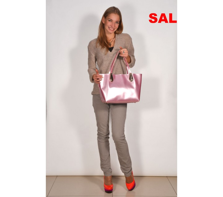 Di Gregorio сумка 896 лак бледно-розовый