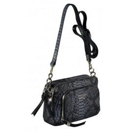 GAUDE сумка женская 3901 кожа питон серый