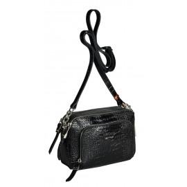 GAUDE сумка женская 3900 кожа кроко черный