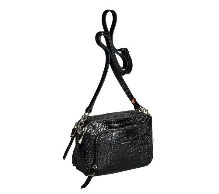 b7133d38a8c4 GAUDE сумка женская 3900 кожа кроко черный