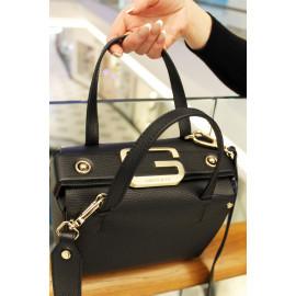 Gironacci сумка 2241 кожа черный/виола