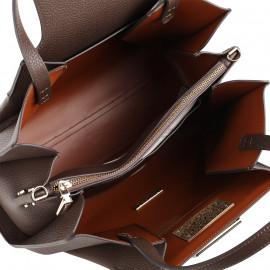 Gironacci сумка 2340 кожа рыжий/калф койо