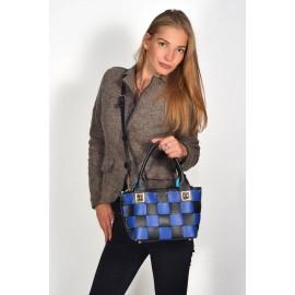 Gironacci сумка 140 кожа марине/голубой/фиолет
