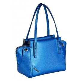 Gironacci сумка 640 калф сафьяно металлик синий