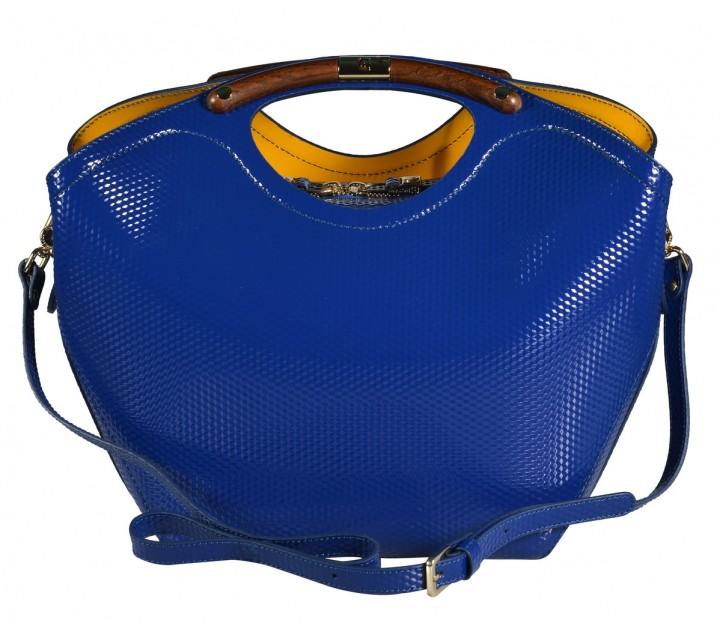 Gironacci сумка 542 калф кубик синий/желтый