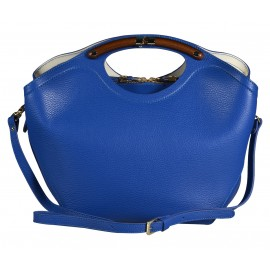 Gironacci сумка 541 кожа синий/крем