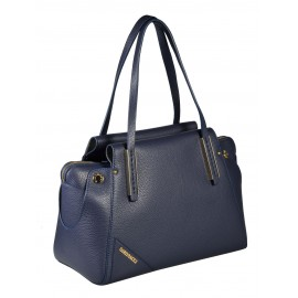 Gironacci сумка 641 кожа синий/цемент