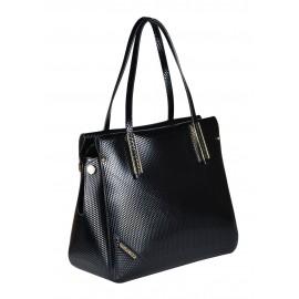 Gironacci сумка 642 кожа кубик черный/цемент