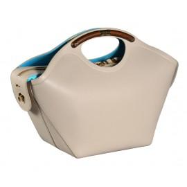 Gironacci сумка 543 кожа бежевый/голубой