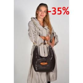 Gironacci сумка 793 кожа коричневый/рыжий