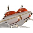 Gironacci сумка 460 кожа перла/маттоне