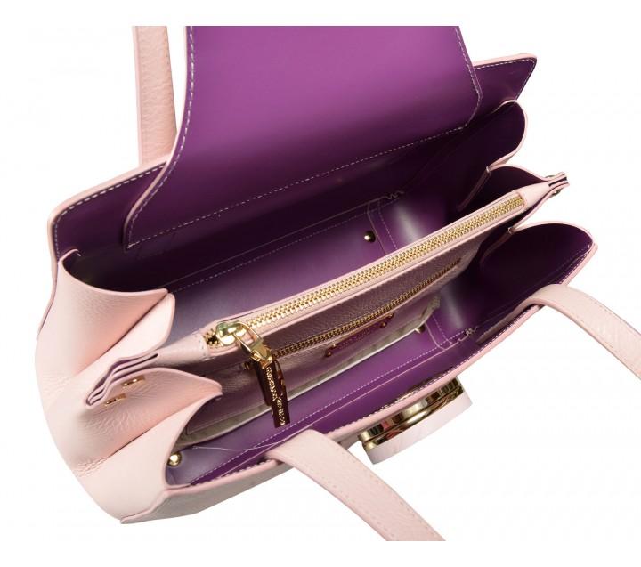 Gironacci сумка 161 кожа чиприя/виола